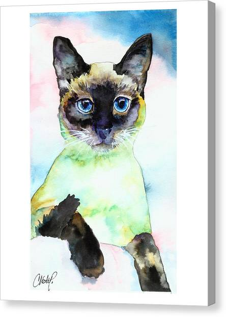 Siamese Cat Posing Canvas Print