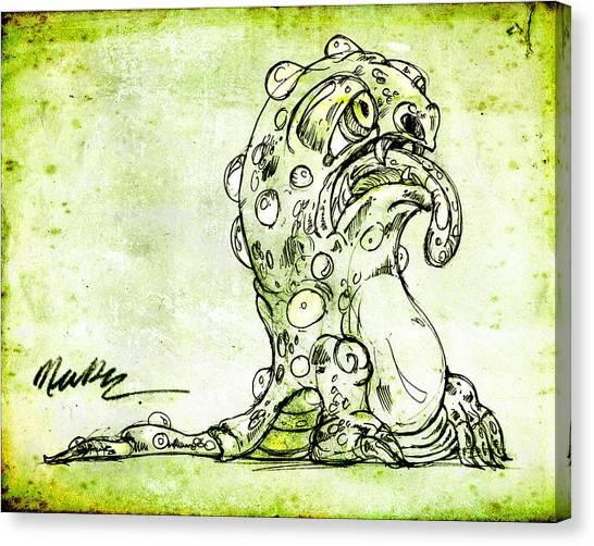 Sick Monster  Canvas Print