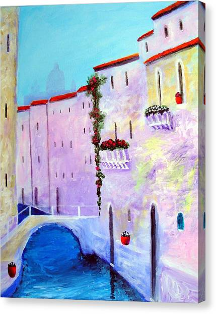 Side Canal Of Venice Canvas Print