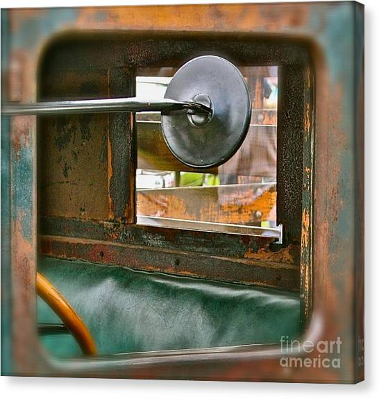 Side View Window Canvas Print by David  Hubbs