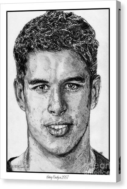 Canvas Print - Sidney Crosby In 2007 by J McCombie