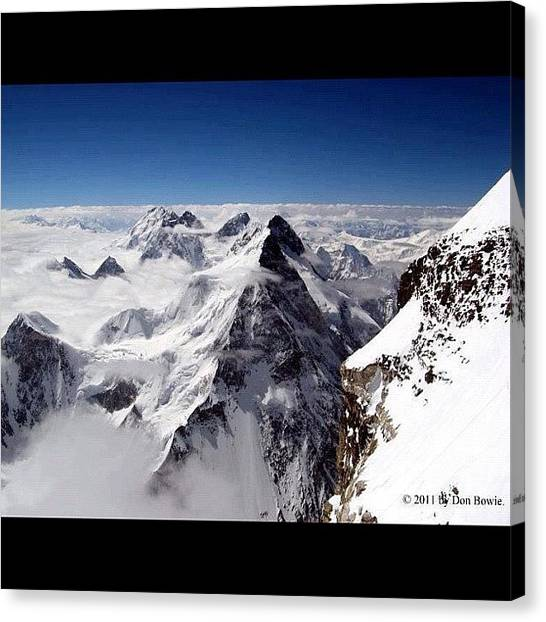 K2 Canvas Print - Sights Of Pakistan  Above The by Muhammad Tahir