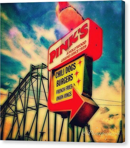 Iphone 4 Canvas Print - #sign At #cedarpoint In #ohio #ohiogram by Pete Michaud