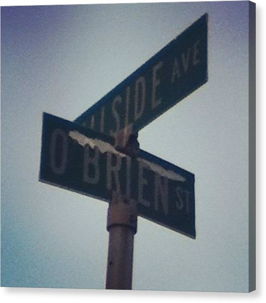 Street Signs Canvas Print - #sign #street #streetsign #signs #post by Jamiee Spenncer