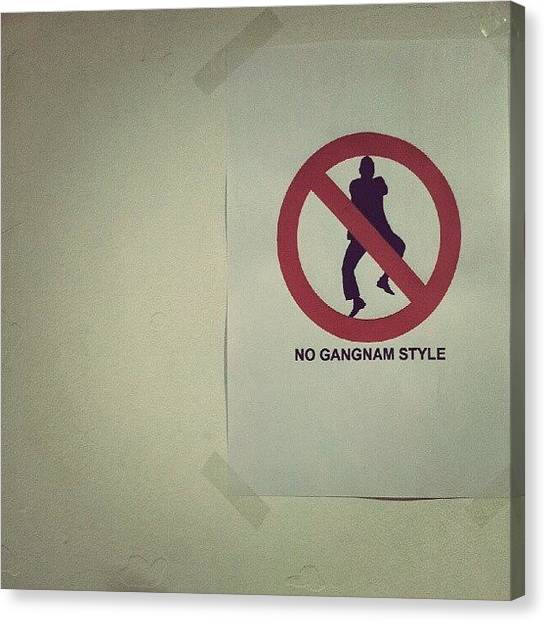 Korean Canvas Print - #signboards #signs #gangnamstyle #korea by Mohd Haikal