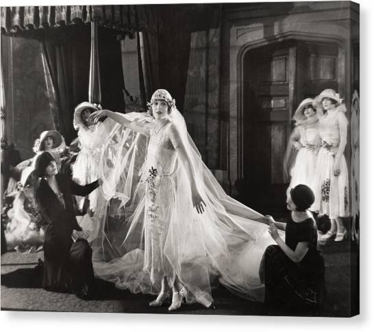Wedding Gown Canvas Print - Silent Film Still:wedding by Granger
