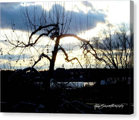 Silhouette In Sunset Canvas Print by Ruth Bodycott