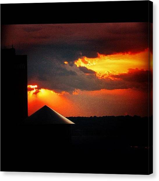 Arkansas Canvas Print - Silhouette by Roger Snook