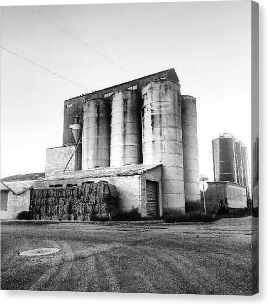 Farmhouse Canvas Print - Silos In Utah. #silo #silos #farm #utah by Carlos Caceres