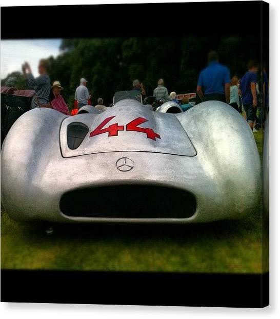 Race Cars Canvas Print - Silver Arrow by Matt Perkins