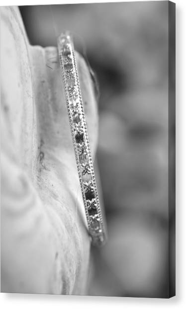Silver Bangle Canvas Print