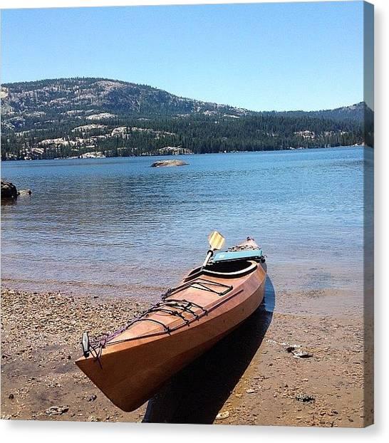 Kayaks Canvas Print - Silver Lake #silverlake #silver #lake by Paul Wallingford