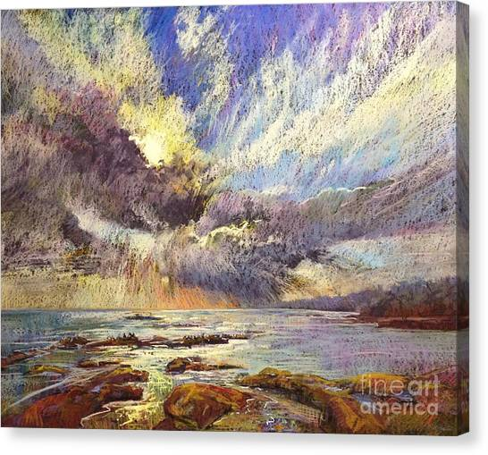 Silver Lining Canvas Print by Pamela Pretty