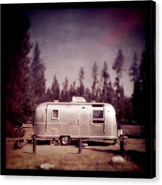 Yellowstone National Park Canvas Print - Silver Van by Florian Divi