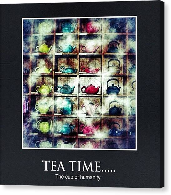 Tea Canvas Print - #simetry #statigram #webstagram by Marco Prado