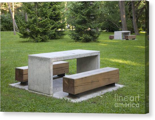 Simple Park Benches And Tables Photograph By Jaak Nilson - Park bench and table