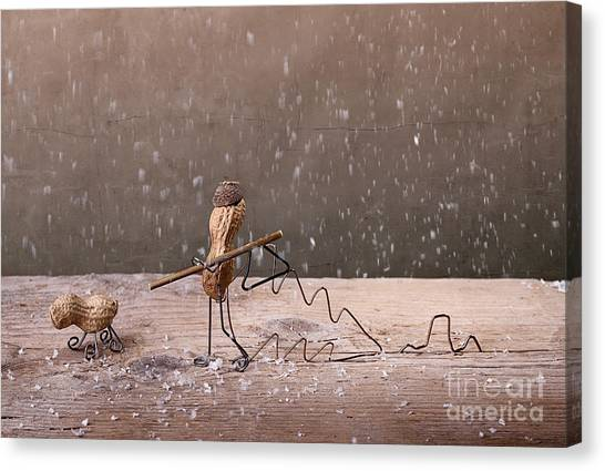 Dad Canvas Print - Simple Things - Christmas 03 by Nailia Schwarz