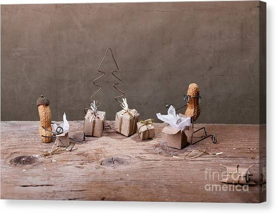 Presents Canvas Print - Simple Things - Christmas 05 by Nailia Schwarz