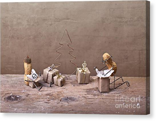 Presents Canvas Print - Simple Things - Christmas 08 by Nailia Schwarz