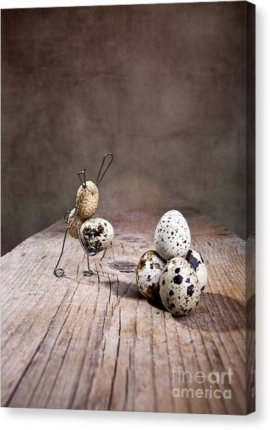 Easter Canvas Print - Simple Things Easter 01 by Nailia Schwarz