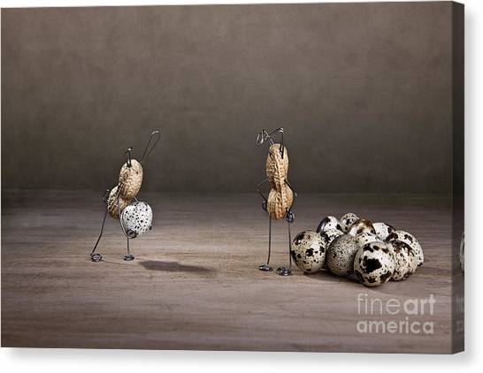 Easter Eggs Canvas Print - Simple Things Easter 09 by Nailia Schwarz