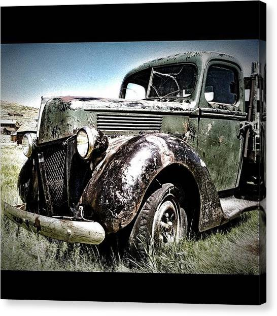 Trucks Canvas Print - Sin City by Leo Huerta
