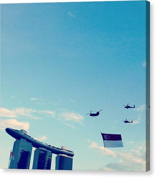 Helicopters Canvas Print - #singapore #sgig #sky #rsaf #airforce by Gabriel Kang
