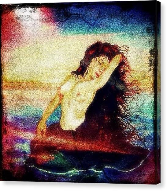 Mermaids Canvas Print - Siren by Lisa Catherwood