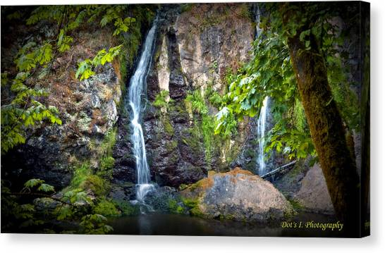 Sister Falls Canvas Print by Dorothy Hilde