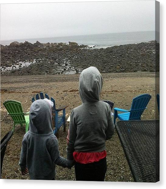 Lobster Canvas Print - Sisters In Maine by Juan Perez