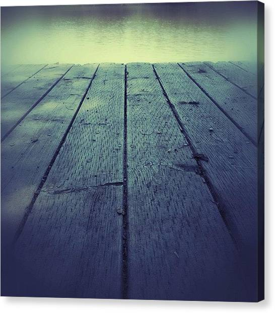 Manitoba Canvas Print - Sittin' On The Dock by Jessica Mutimer