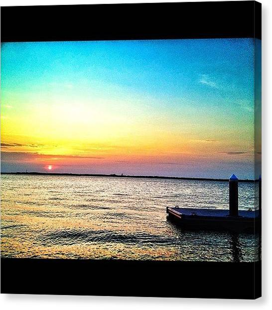 Foxes Canvas Print - Sitting At The Dock Of The Bay. #ombre by Rachel Fox Burson