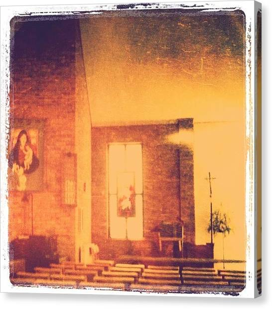 Wedding Canvas Print - Sitting In Church, Waiting To Help by Lynsay Downs