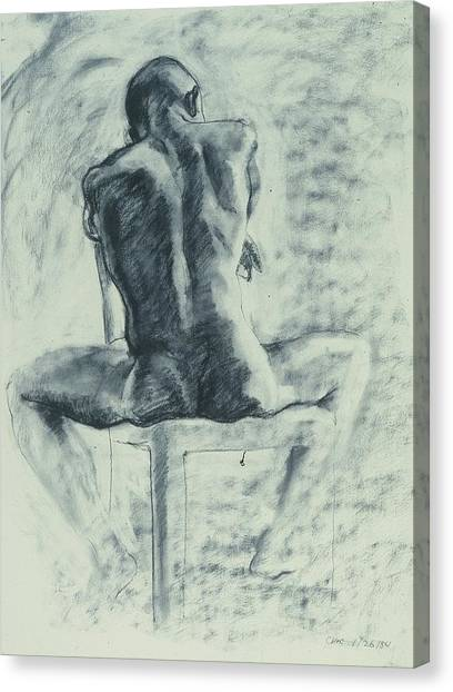 Canvas Print - Sitting Nude by Chae Min Shim