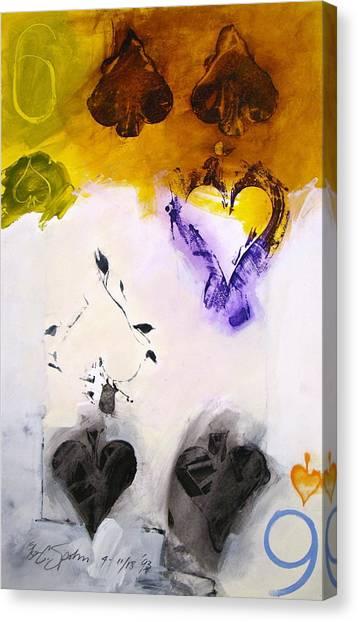 Six Of Spades 15-52 Canvas Print