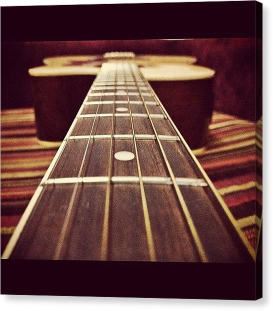 Guitars Canvas Print - Six String.. #lordrul #guitar #strings by Lord Rul