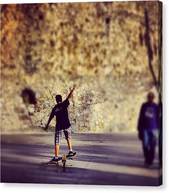 Igers Canvas Print - Skateboarding by Tommy Tjahjono
