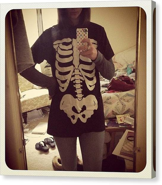 Torso Canvas Print - #skeleton #halloween #easy #costume To by Emily Sheridan