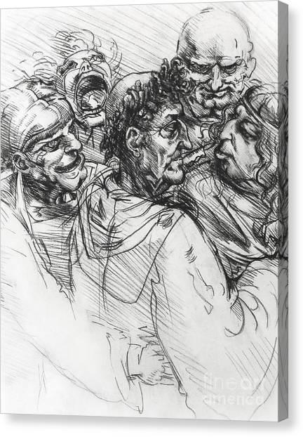 Sketch After Leonardo Canvas Print