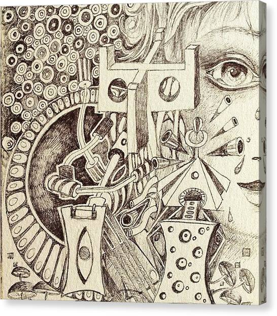 Surrealism Canvas Print - Sketch by Lisa Catherwood