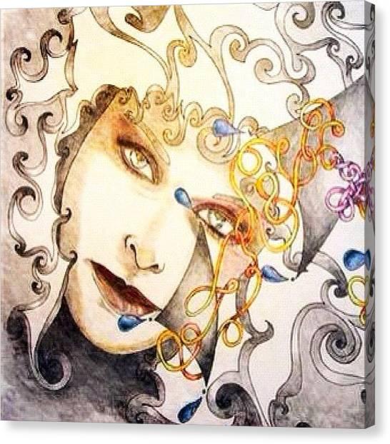 Pencils Canvas Print - Sketchbook by Lisa Catherwood