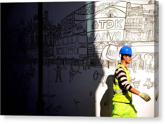 Sketchy London Canvas Print by Jez C Self