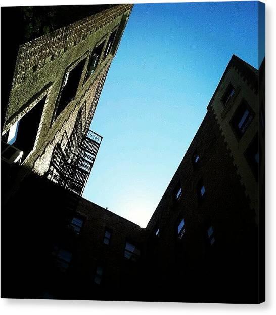 Heaven Canvas Print - #skies #blue #heavens #buildings #bronx by Radiofreebronx Rox