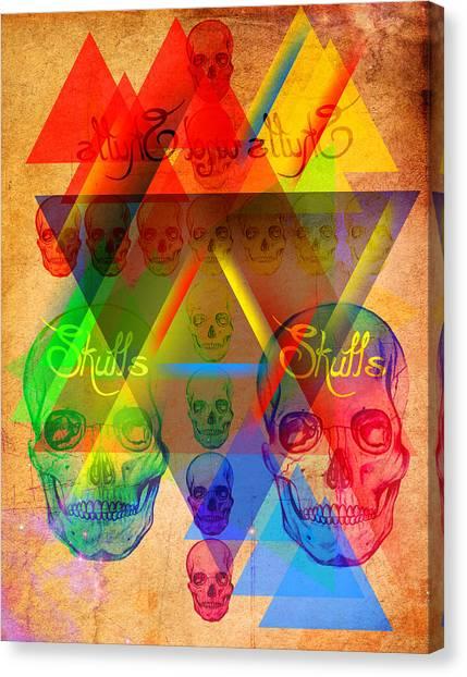 Skulls And Skulls Canvas Print by Kenal Louis