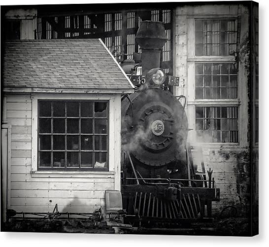 Skunk Trains Cabin Canvas Print