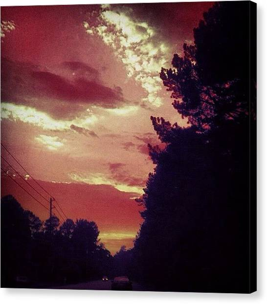 Driving Canvas Print - #sky 🌅 by Katie Williams
