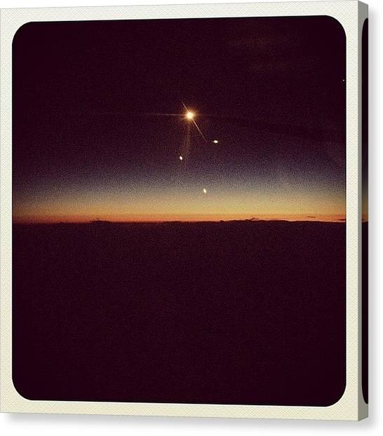 Sunset Horizon Canvas Print - #sky #blue #orange #horizon #instagram by Wilson Aw