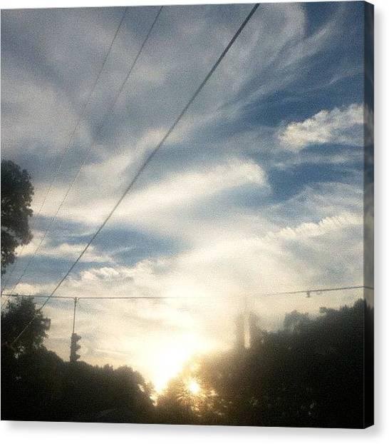 Stoplights Canvas Print - Sky Blur by John Griffin
