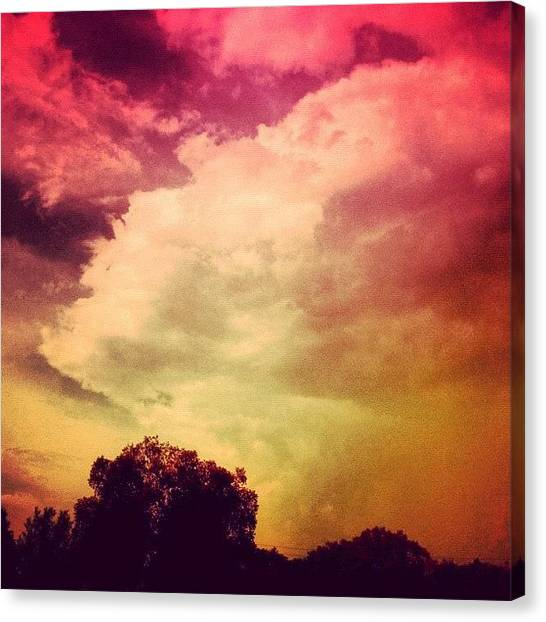 Edit Canvas Print - #sky #cary #colourful #clouds ☁ by Katie Williams