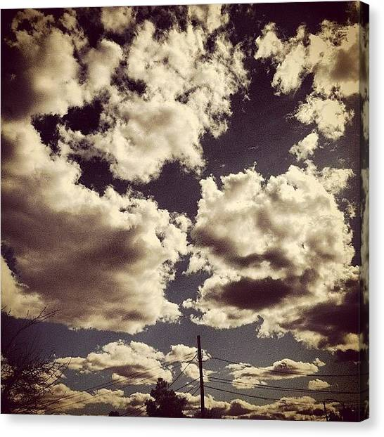 Wet Canvas Print - #sky #cloud #clouds #tucson #tucsonaz by Shawn Doherty